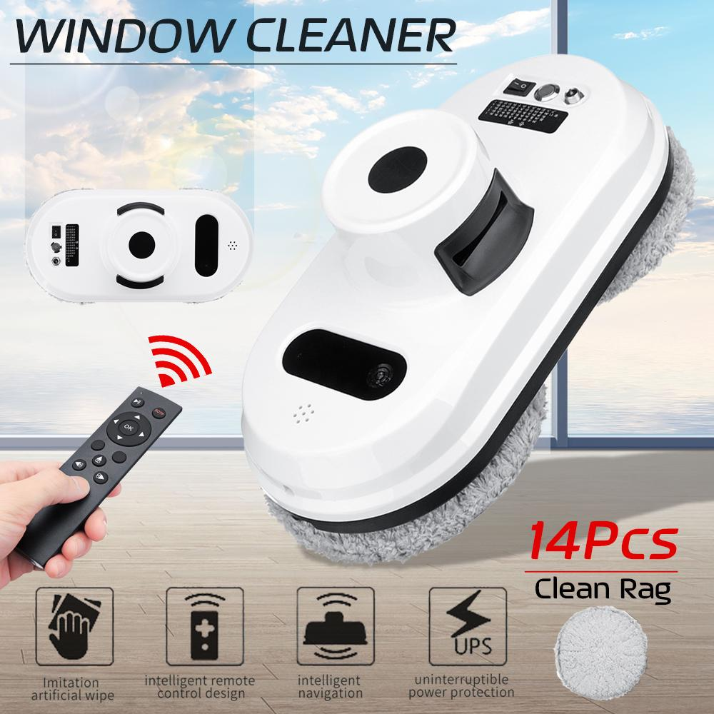 Auto Window Cleaning Strong Suction Robot Anti falling UPS Magnetic Glass Vacuum Cleaner Remote Control Intelligent 3 Auto Cleaning Modes for Home
