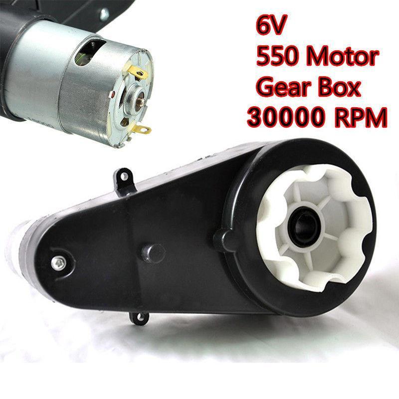 30000RPM High Speed Electric Drive Motor Gear Box Kids Ride On Bike Car Toys 12V
