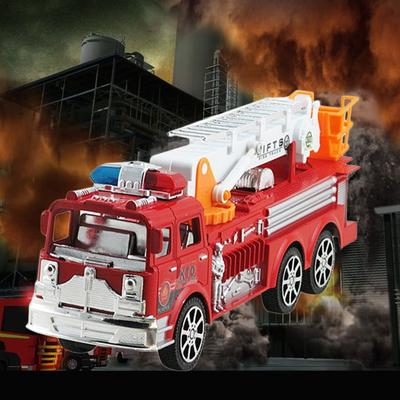 Model Car Engineering Vehicle Simulation Aerial Fire Truck