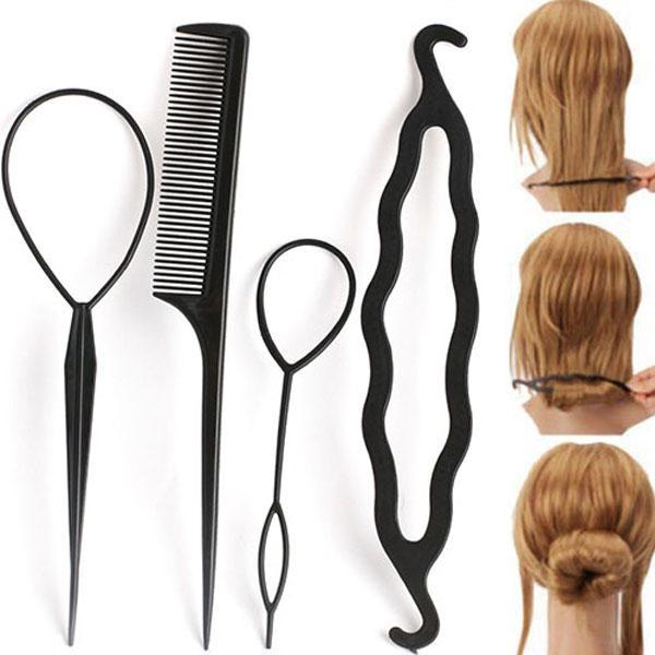 Fashion Hair Twist Styling Clip Stick Bun Maker Braid Tool  Accessories 10Pcs/'