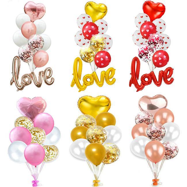 Конфетти Шары Любовь Сценарий Воздух Фольга Воздушный шар День рождения День святого Валентина Свадебное украшение фото