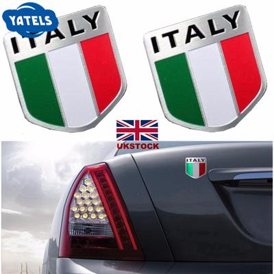 2pcs New 3D Chrome Car Logo Car Emblem Stickers Decals Badge Labeling for HYUNDAI Racing sports