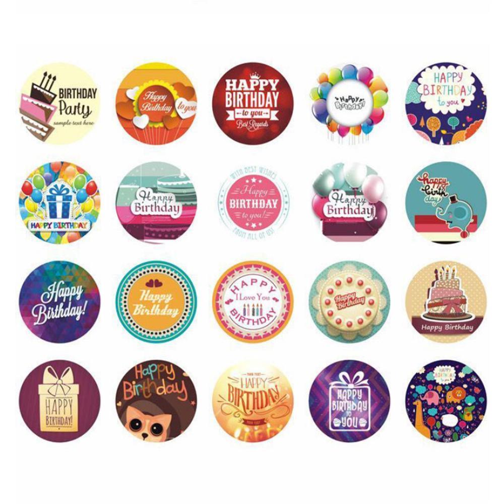 "500pcs /""Handmade with Love/"" Fashion Stickers Seals Scrapbook DIY Craft Gift"