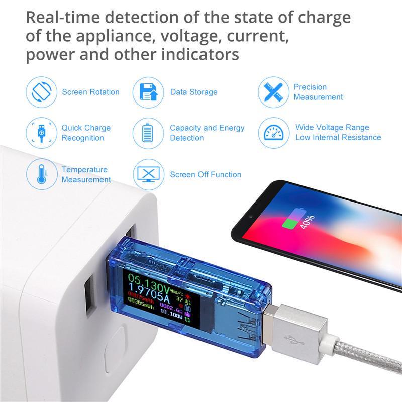 USB 3.0 Multimeter 3.7-30V USB Tester USB Digital Current and Voltage Tester