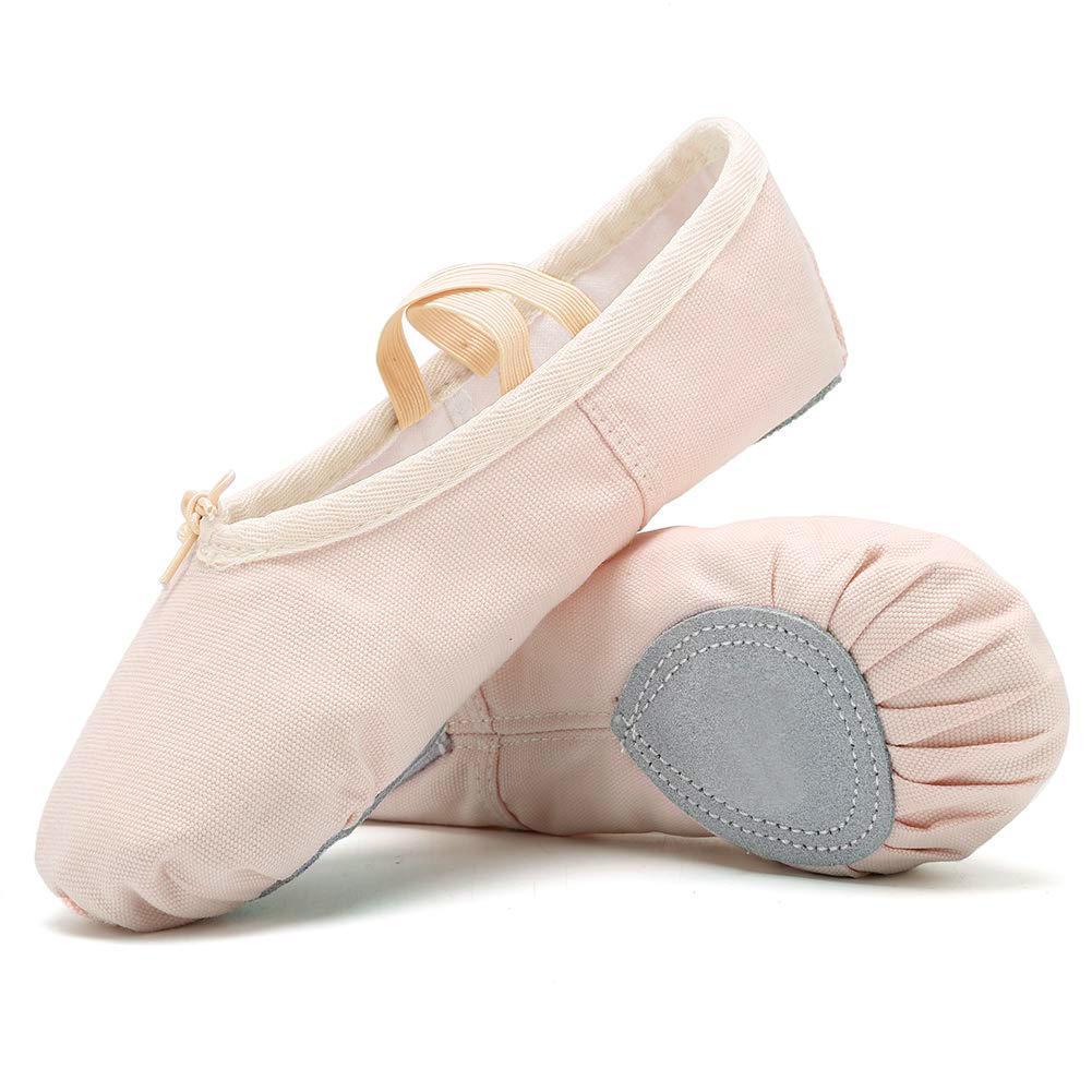 Amazing Tour Ballet Canvas Dance Shoes Gymnastic Yoga Shoes Flat Split Sole Adults /& Childrens Sizes Pink