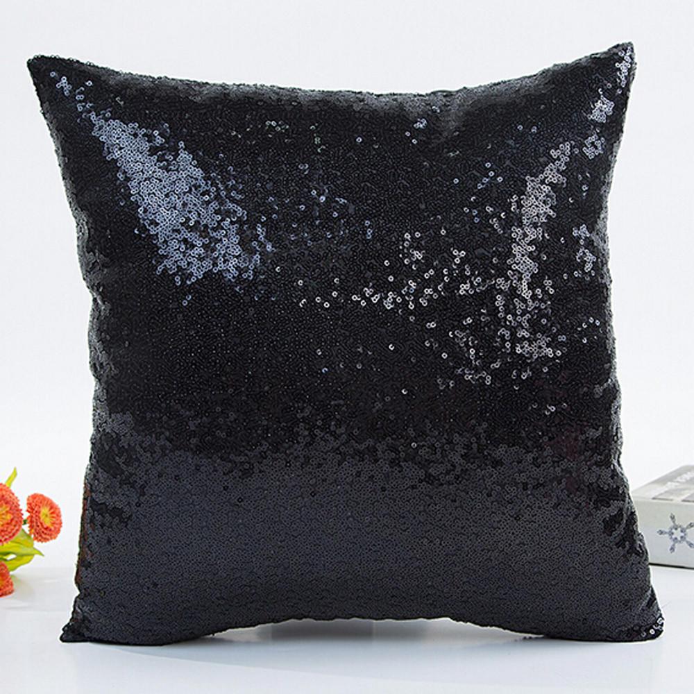 Coloured Glitter Sequin Flora Cushion Cover Throw Pillow Case Sofa Home Decor AU