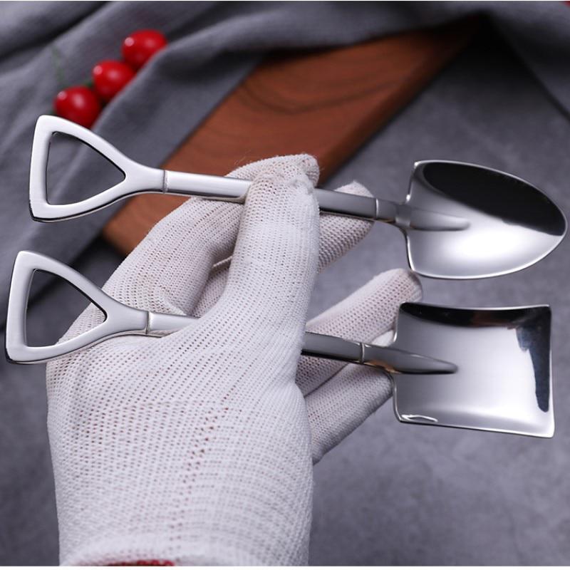 Чайные ложки в форме лопат из нержавеющей стали – купить по низким ценам в интернет-магазине Joom