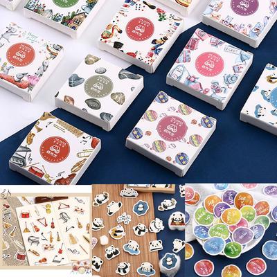 Flower Scrapbooking  Paper Stickers Diary Label Album Decor Boxed Sticker