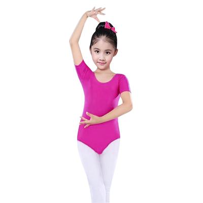 Girls Ballet Dance Dress Mesh Leotard Gymnastics Slim Shape Bodysuit Dancewear