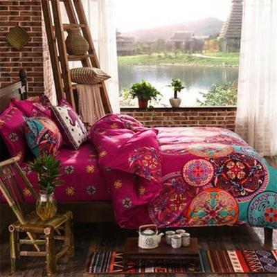 Bedding Set Bohemian Oriental Mandala Bedding Quilt Cover Set Twin