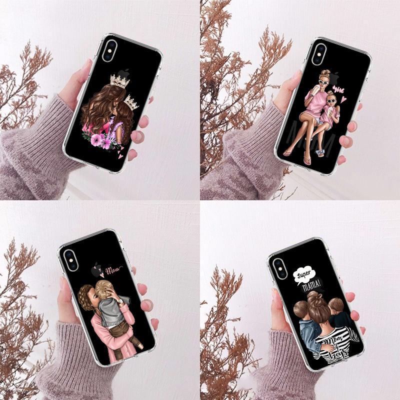 День матери мама Мягкий TPU Спасибо матери Samsung Телефон Дело Обложка для SamungS8 S9 S10 S8 iPhone