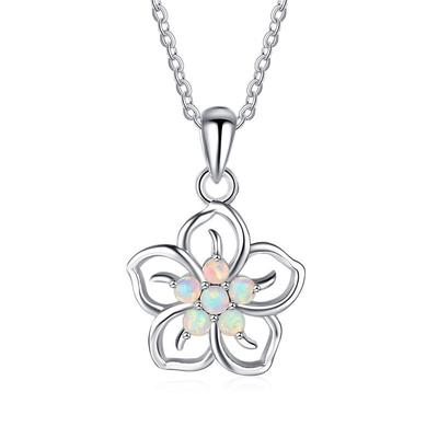 Exquisite Simple Flower Shaped Pendant Female Glamour Bride