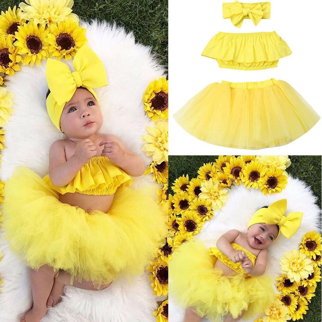 Newborn Baby Girl Romper+Tutu Skirt Tulle Outfits Dress Dreamcatcher 3pcs Set