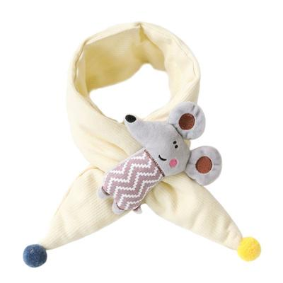 Toddler Baby Winter Cross Collar Scarf Cute Cartoon 3D Rabbit Doll Neck Warmer