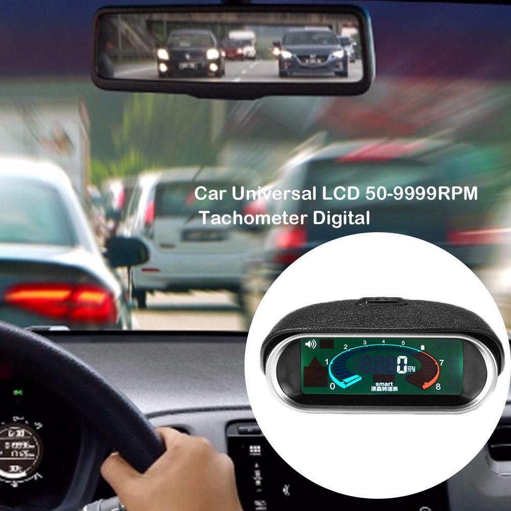 Details about  /Car Truck LCD Digital Tachometer Tach Gauge 50~9999 RPM Universal Vehicle 9-36V