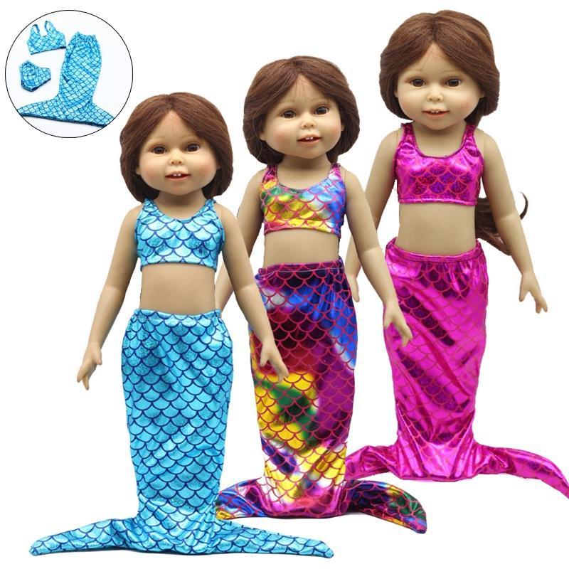 Glitzernde Meerjungfrau Set 18 Zoll American Girl Puppe Baby ...