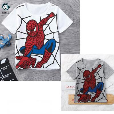 New Spiderman Kids T Shirt Tee Tops 100/% Cotton Boys Girls Birthday Gift