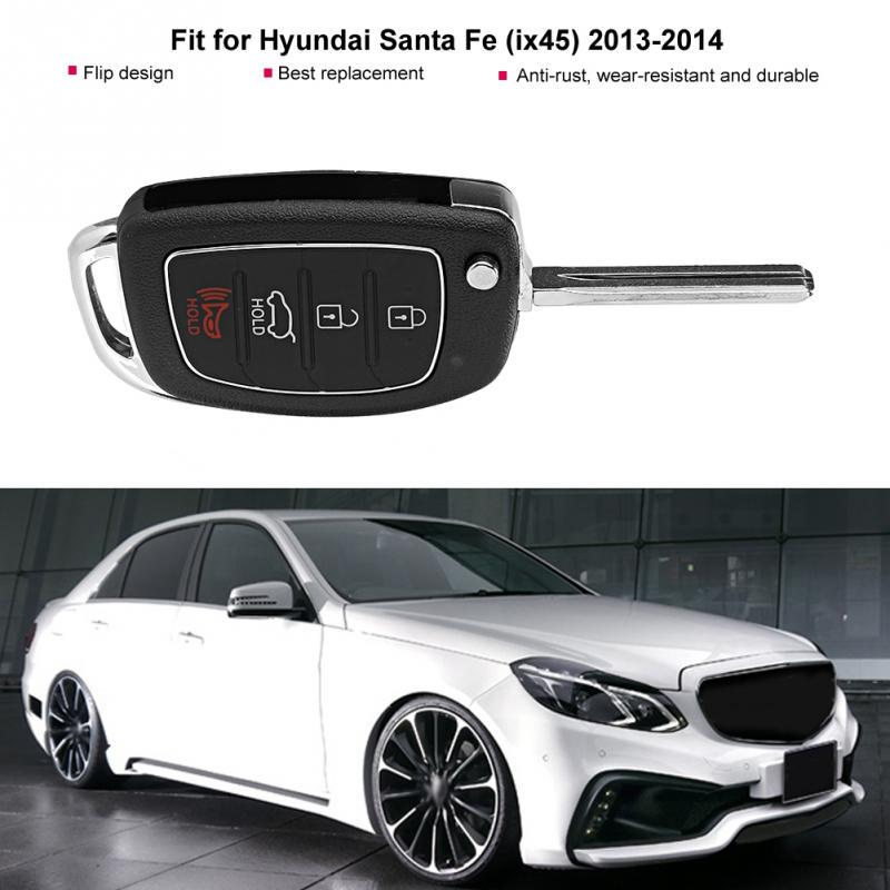 3 Buttons Replacement Smart Key Fob Case Shell For Hyundai Santa Fe ix45 2013 2014 Remote Control Key Fob Shell