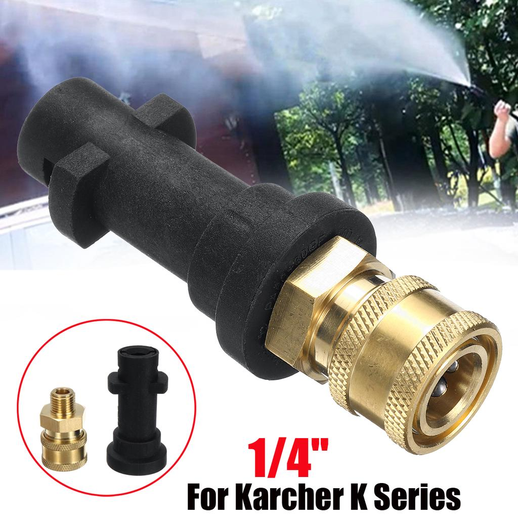"""G1//4/"""" Quick Connector Pressure Washer Wand Lance With Adapter For Karcher Lavor"""