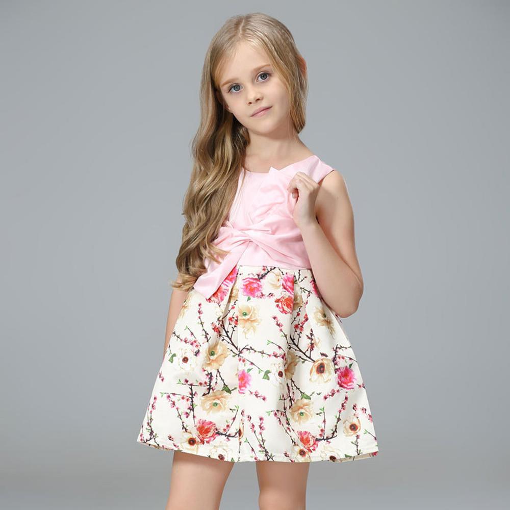 Kinder Mädchen florale Bogen Prinzessin Kleid Abendkleidung ...