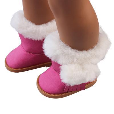 eb4057cb1b4 Botas para la nieve de invierno peluche lindo para muñecas de niñas  americanas de 18 pulgadas