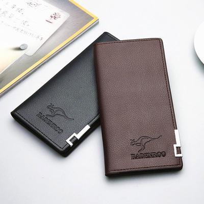 1f0238166293 Мужские портмоне долго дизайн бизнес случайные деньги мешок кожаный бумажник  подарок для мужчин