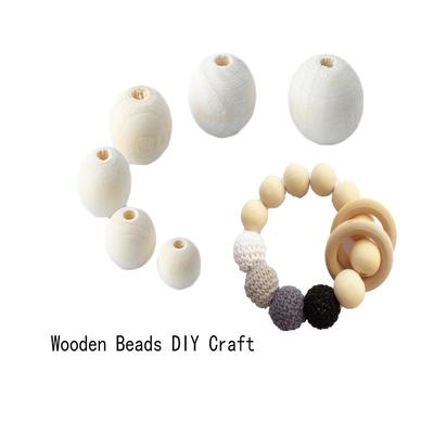 30pcs Dyed Wood Spacer Beads Wooden DIY Paint Loose Beads Sewing Craft 18mm