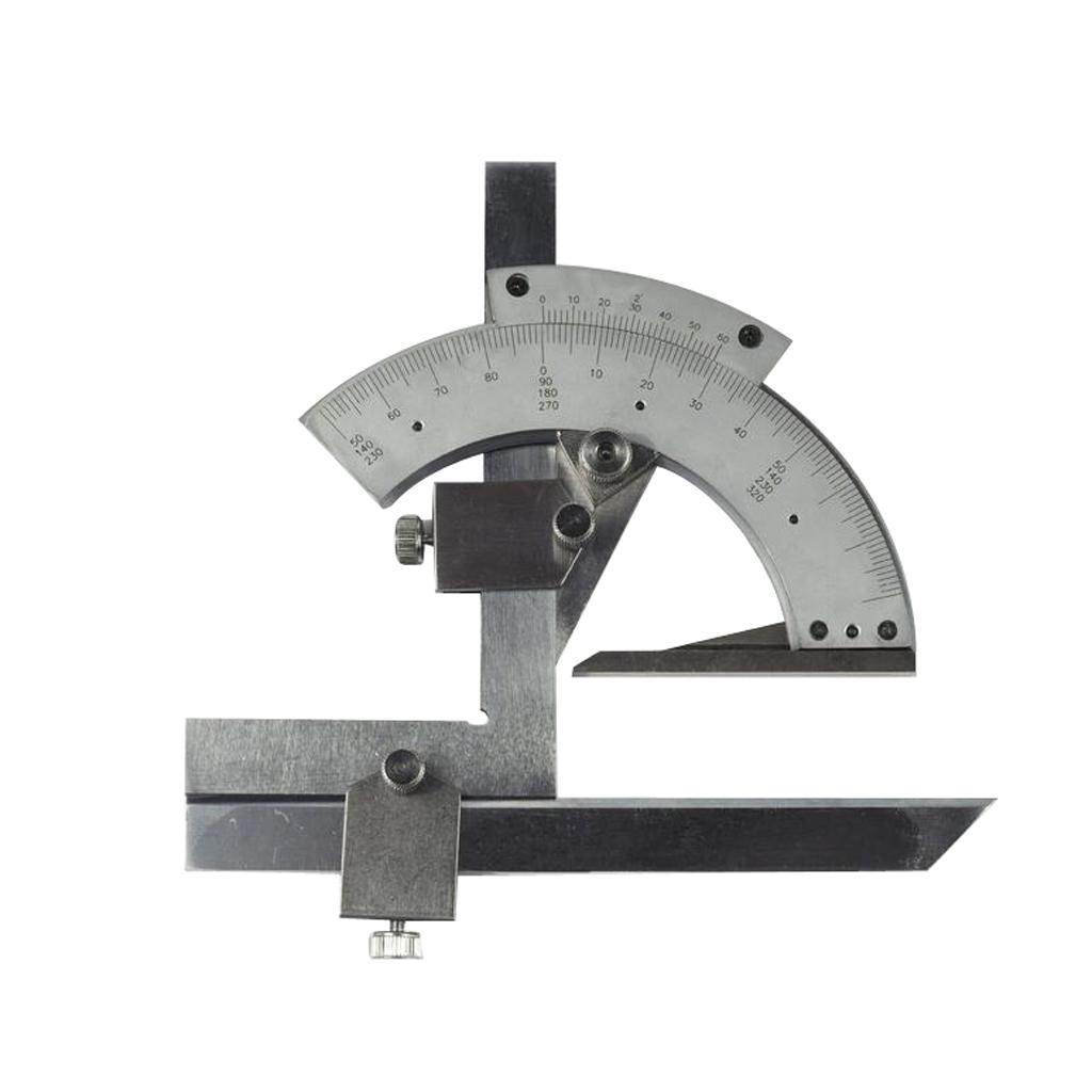 0-320 Degree Bevel Protractor Machinist Angle Measurement High Accurate Device