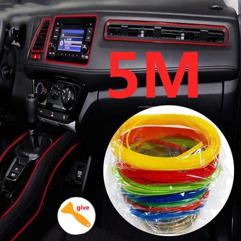 5m автомобиль автомобиль укладка DIY гибкие интерьера литье отделки полоски фото
