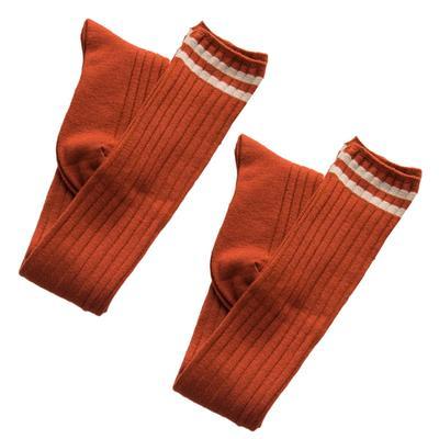 Women/'s Maroon Striped Tall Socks NWT