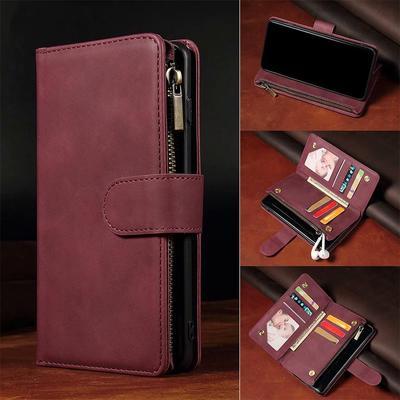 Flip Zipper Leather Wallet Case Cover For Samsung A52 A72 A51 A21S S21 S20 iPhone 12 11 Pro Max XR Huawei Honor 10 Lite