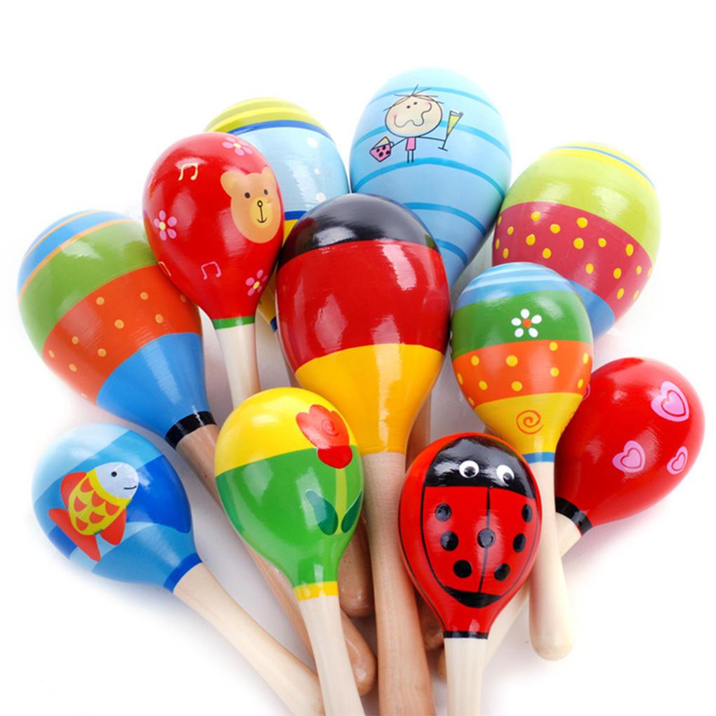 厂家直销 木制小号沙锤沙球 木质沙锤 婴幼儿益智早教手摇铃玩具