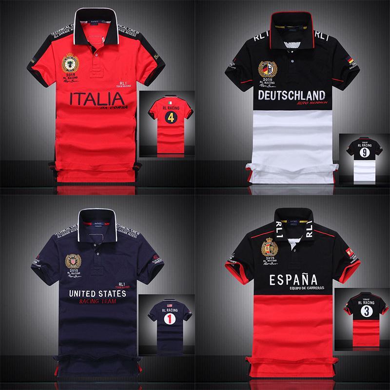 Men/'s Short Sleeve Polo T Shirt RL RACING UK USA ITALY FRANCE UAE Uniforms Shirt