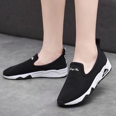 28111b24e7 Kobiety Moda Fitness Walking Niski Obcas Klin Sneaker Sport Ladies Leisure  Shoes