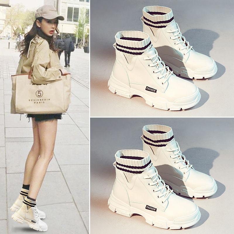 Мартин сапоги женщин обувь осень и зима плюс бархатные сапоги Все-матч британский стиль лодыжки сапоги – купить по низким ценам в интернет-магазине Joom