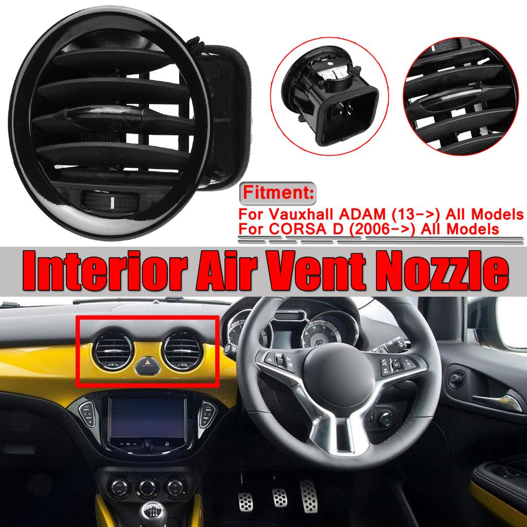 Air Vent Panel Grille Cover Ventilation Grille Air Vent Nozzle Grille Piano Black Fit for Opel Corsa D Adam 2201099