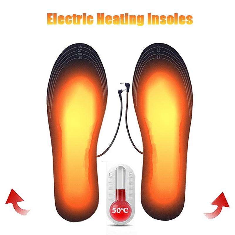 Battery Warmer Forefoot Electric Heated Shoe Insoles 1Pair Ski Boot Foot Heater