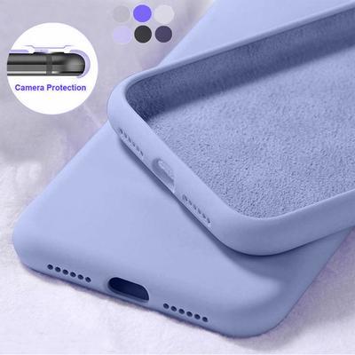 Liquid Silicone Soft Candy Color Cases Full Covers Phone Cover For Xiaomi 11 POCO X3 NFC M3 10T Lite CC9Pro Redmi K40 Note 10 Pro