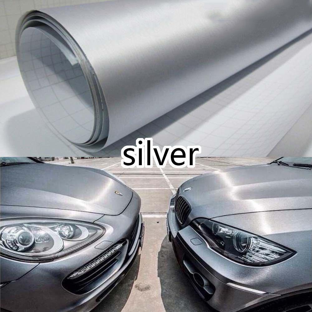 All the Wrap Car Metallic Matte Brushed Silver ALUMINUM Vinyl Sticker Decal BO