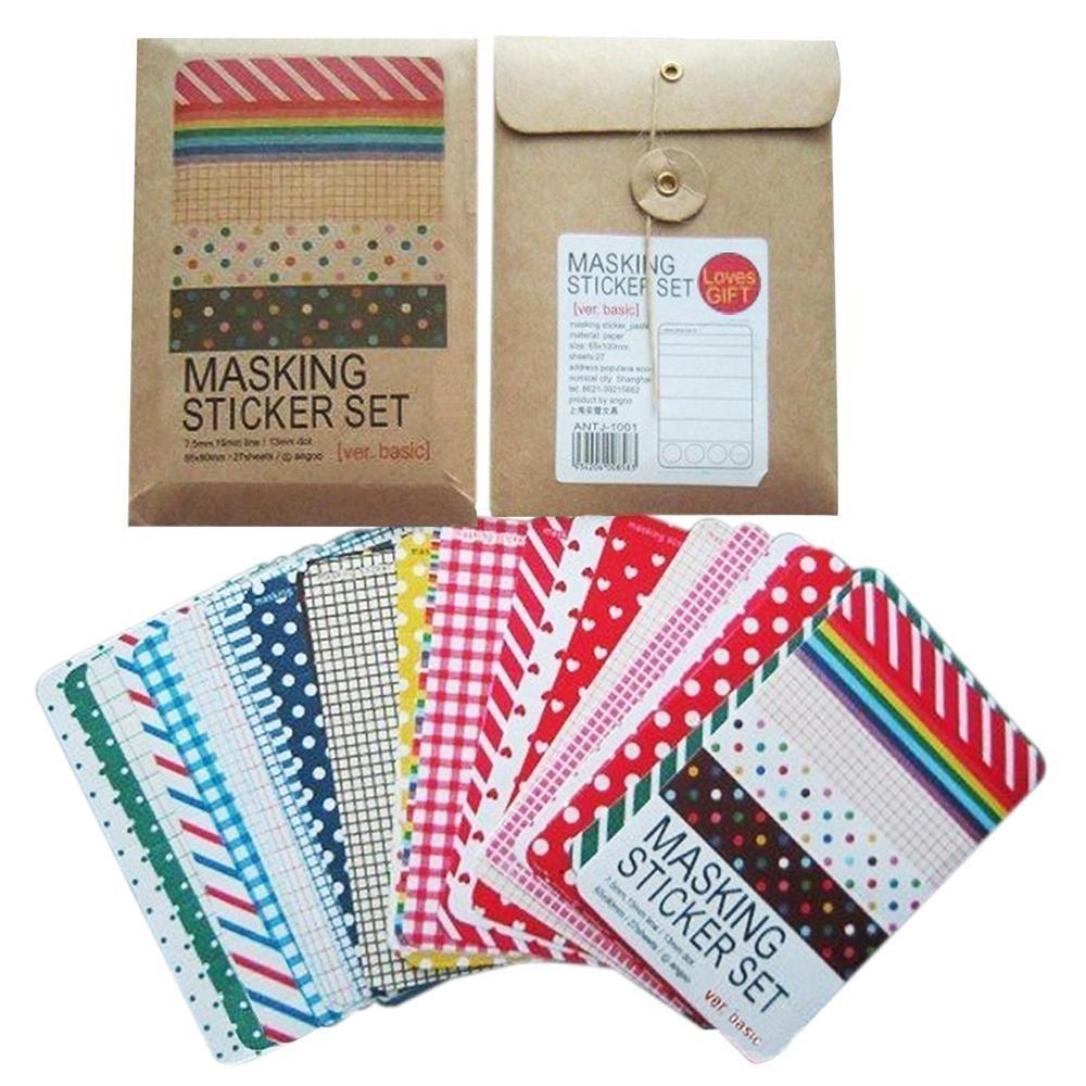 27X Washi Masking Tape Craft Stickers Pack Decorative Labelling Scrapbooking EW