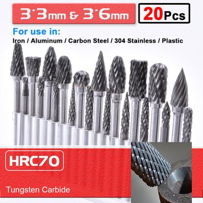 1X Shank 6mm Tungsten carbide Burrs For Rotary Drill Bit Grinder Carving
