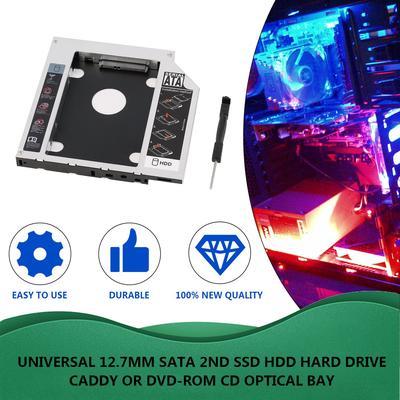 Thickness 2.5 inch Second SATA to IDE HDD Hard Drive Caddy 10mm