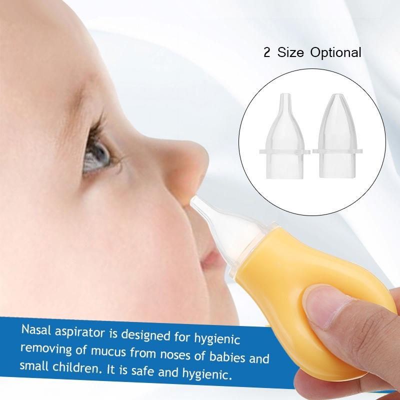 Baby Nasal Vacuum Mucus Suction Aspirator Soft Tip Runny Nose Cleaner