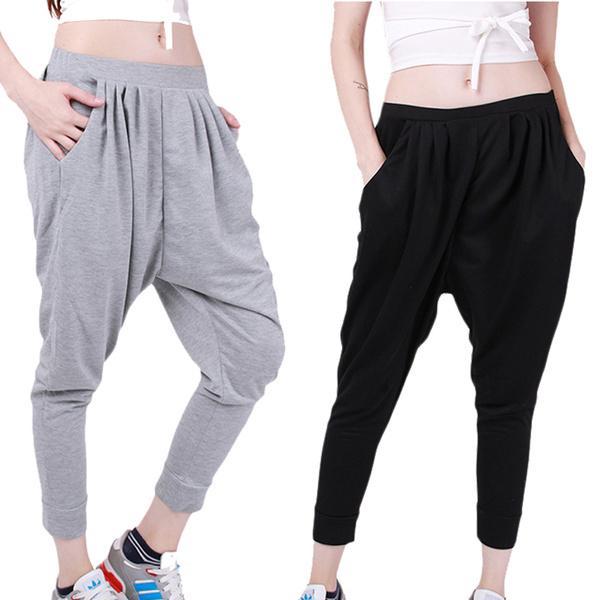 ed65170e881f6 Pantalones jogger sudor deportes hombres y mujeres holgado hip hop dejar la  entrepierna pantalones