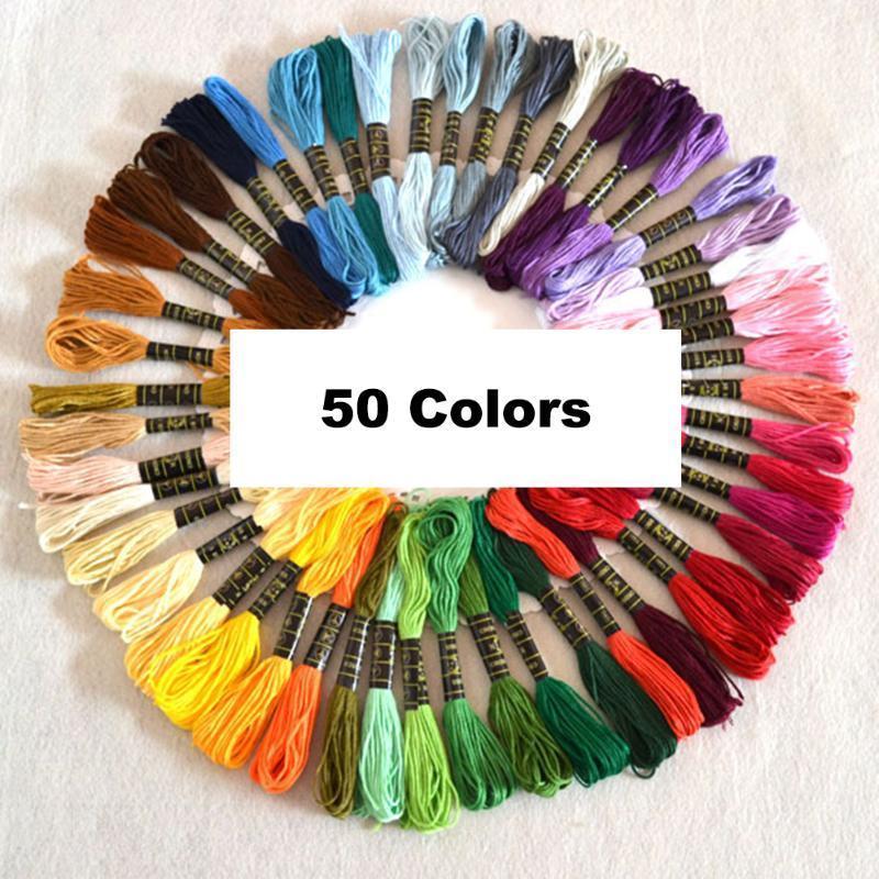 12 X Madejas color hilo de bordar de algodón puntada cruzada//Trenzado//Artesanía Coser
