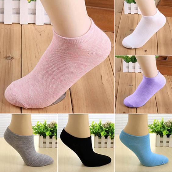 短袜纯色女棉夏季短款袜子四季纯女棉船袜短腰短筒薄款女薄款