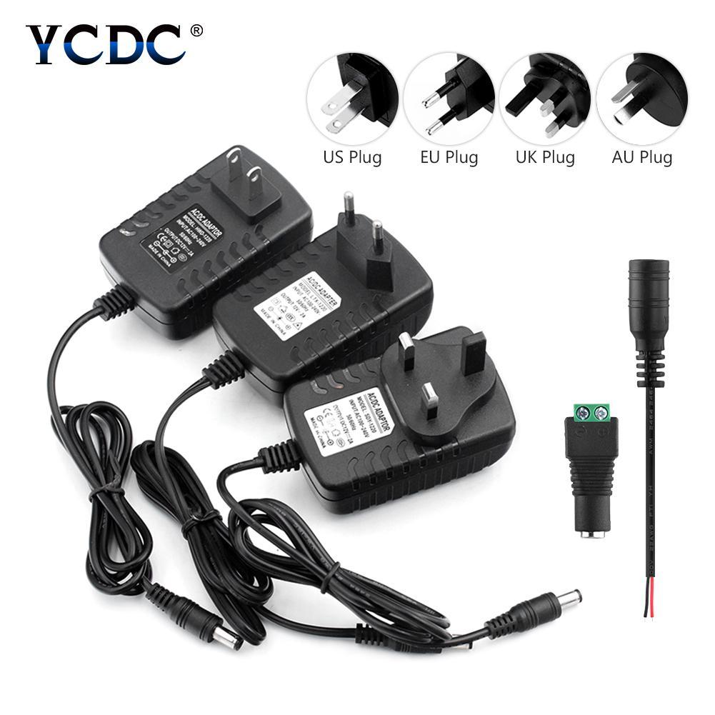 Ac 110 240v To Dc 12v 2a Power Supply Adapter Uk Us Plug For 3528 5050 Strip Led Buy From 3 On Joom E Commerce Platform