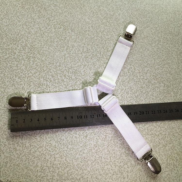 Feuille 8Pcs Pinces Bretelles Attaches Hold Grips Élastique Clips Pince Couvre-lit
