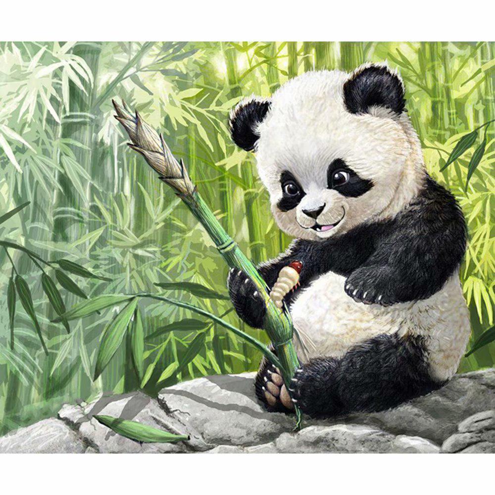 Diamond Painting Cross Stitch Panda Family Rhinestone Embroidery Art Wall Decor