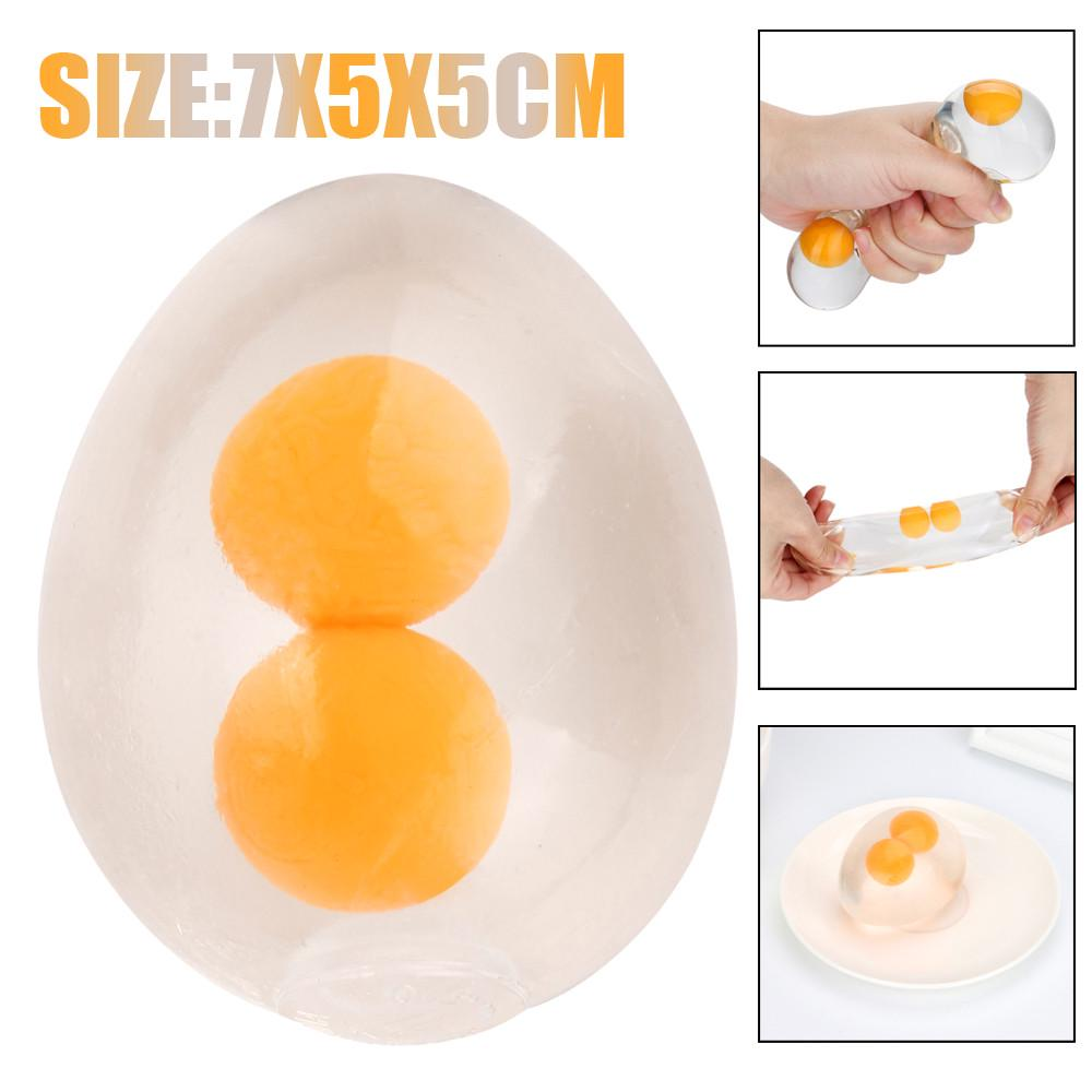 Creative Anti Stress Ball Unbreakable Venting Splat-Eggs Fun Squeeze Reliever To